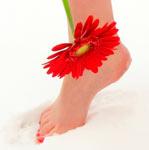 ножки без мозолей с цветочком
